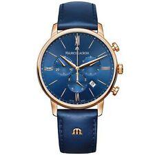 Maurice LaCroix Eliros Quartz Blue Leather Chrono EL1098-PVP01-411-1 RRP £775
