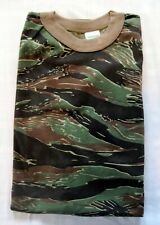 Vintage 1980's Tiger Stripe Camouflage T Shirt - Small Thin Camo Tee Nos