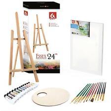 Set 600 Easel, 20x40cm canvas, Oil Paints 10x10ml, 10 Brushes, Pelette