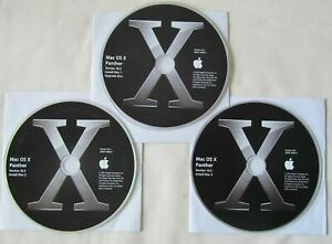 Genuine Apple Mac OS X 10.3 Panther Complete Set of Three CD's in Very Good Cond