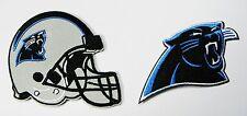 (1) Lote De 2 North Carolina Panthers Bordada Casco y parches con logotipo en el artículo Nº 07