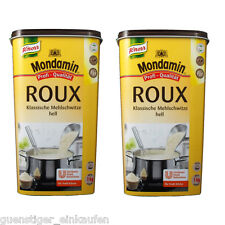 2x 1kg Mondamin Roux Roux infierno Gastro Paquete Profesional Calidad