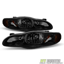 Black Smoke 2000-2005 Chevy Monte Carlo Headlights Aftermarket 00-05 Left+Right