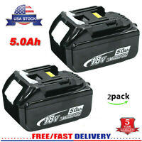 2Pack for Makita 18V LXT Max 5.0Ah Lithium Battery BL1850B-2 BL1860 NEW