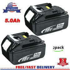 2Pack for Makita 18V LXT Max 5.0Ah Lithium Battery BL1850B-2 BL1860 Genuine NEW