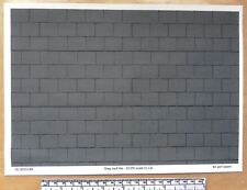 """Dolls house 1/12th scale """"Grey roof tile"""" paper - A4 sheet (297x210 mm)"""