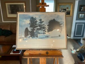 Peter Sculthorpe Cross Country Gallery at Greeneville Framed Exc Cond