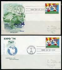UNITED STATES LOT OF TWO ANDY WARHOL 1974   FIRST DAY COVERS