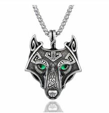 fox necklace with chain stainless steel approx. 24 inch chain