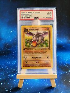 Pokémon Karte / Aerodactyl 1.Edition / Fossil / PSA 9 / Deutsch