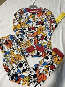NWT Disney Store Mickey & Friends Boys PJ's Pajamas 2 Piece Set ~ Size 10