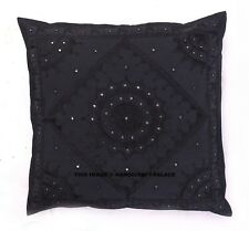 "24"" Black Mirror Embroidered Decorative Pillow Case Cushion Throw Cover Bohemian"