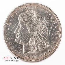 1887 morgan one dólares Silver moneda de plata unidos américa coin Liberty