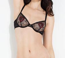 L'AGENT By AGENT PROVOCATEUR Esthar Non Pad Bra Black/Red Size UK 32D BNWT