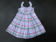 Ralph Lauren Girls 7 Plaid Ruffle Neck Dress KK1