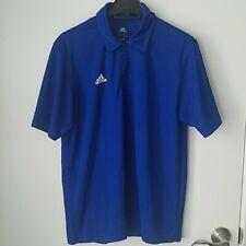 Adidas Mens Climalite Blue Shortsleeve Athletic Polo Shirt Size M
