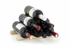 Kikkerland Set Of 2 Small Wooden 6 Bottles Wine Rack Sticks Holder Bar Fun Gift