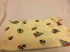 """I Like You American Vintage 1975 Fabric Apple Flowers 25"""" X 44"""" Material Crafts"""