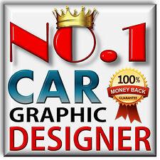 Custom Designed Car Graphics - We Design, Produce & Deliver As Vinyl Car Decals