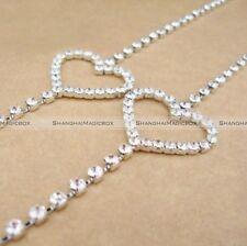 Ladies Crystal Rhinestone Diamante Wedding Bridal Jewelry Shoulder Bra Straps