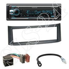 Kenwood kdc-x5100bt Radio + SMART ROADSTER (br452) Panneau Anthracite + ISO Adaptateur