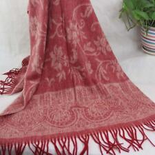 Sale New Womens Mans Jacquard 4-ply Cashmere Wool Soft Warm Wrap Shawl Scarf 240