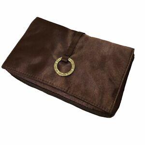 BVLGARI Brown/Gold Purse Wallet Toiletries Bag Pouch Clutch