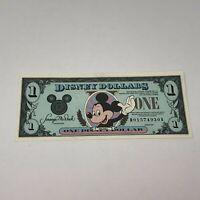 Walt Disney Dollar 1990 Mickey Mouse $1 One D01574930A Bill