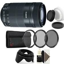 Canon Ef-S 55-250mm F4-5.6 Is Stm Lens with Accessories for Canon Slr Cameras