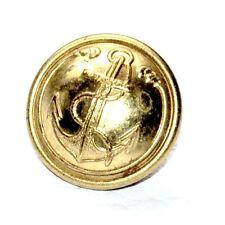 1 bouton vintage / ancien bouton d'uniforme de la marine Ancre 20mm button