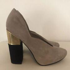 Office London Suede Shoes Size 6/39 Hidden Platform