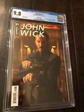 JOHN WICK #1 COMIC CGC 9.8 Photo Variant C RARE Dynamite MOVIE Keanu Reeves