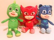 "Set of 3 11"" PJ Masks Character Catboy Owlette Gekko Plush Doll Stuff Animal Toy"