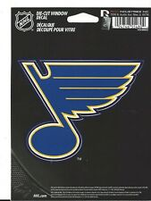 """ST LOUIS BLUES WINGED NOTE  4"""" X 5""""  PEEL AND STICK DECAL USA MADE NEW"""