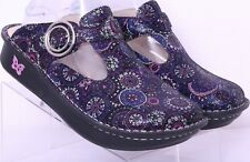 Alegria Spiro Classic Purple Comfort Slip On Mule Clogs Women's US 8.5 EUR 39