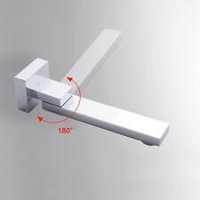 Wall Mounted 180°Swivel Bath Tub Shower spout Pot Filler Mixer Basin Faucet