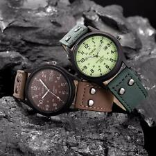 Vintage Classic Mens Watch Waterproof Date Leather Strap Sport Quartz Army Watch
