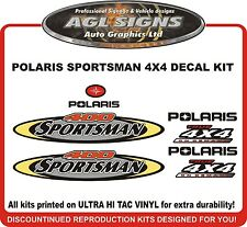 2002 POLARIS  Sportsman 400  4X4 Decal kit  reproductions