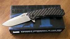 ZERO TOLERANCE New 0566CF Carbon Fiber Rick Hinderer Pln El Max Bld Knife/Knives