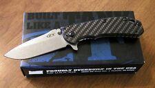 ZERO TOLERANCE New 0566CF Carbon Fiber Rick Hinderer Pln El Max Bld Knife/Knives