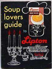 LIPTON SOUP LOVERS GUIDE ADVERTISING RECIPE BROCHURE 1950s 1960s VINTAGE FOOD