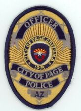 PAGE POLICE ARIZONA AZ COLORFUL PATCH 3 1/2 INCHES TALL SHERIFF