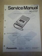 Panasonic Service Manual~RQ-2727 Cassette Recorder~Original~Repair