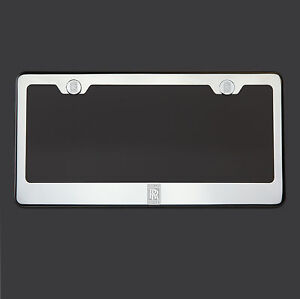 Mirror Chrome Rolls Royce Logo Laser Etched Stainless Steel License Plate Frame