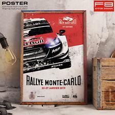 POSTER Locandina Rally Montecarlo 2019 WRC World Rally Car Casinò Monaco GP
