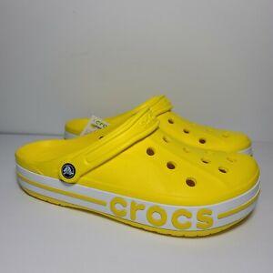 W/12 M/10 Crocs Bayaband Clogs Lemon Yellow New with tags