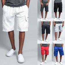 G-Style USA Men's Heavy Weight Fleece Cargo Pocket Sweat Short Pants S~6XL -FS76