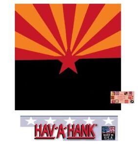 "USA MADE ARIZONA State Flag 22"" BANDANA Cotton SCARF Scarve Head Wrap Neck Band"