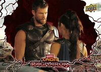 Thor Ragnarok (Upper Deck 2018) RED PARALLEL BASE Trading Card #32