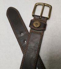 Mossy Oak Men's Brown Genuine Bonded Leather Belt Size S 30-32 Taiwan